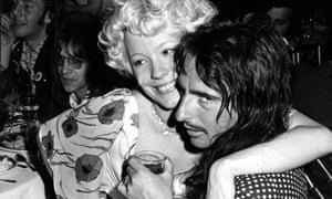 Pamela Des Barres with Alice Cooper, c1974.