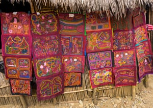 Colourful handstitched Kuna molas
