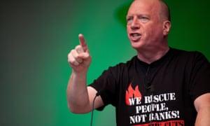Matt Wrack, general secretary of the Fire Brigades Union, addressing a rally in London's Hyde Park last year.