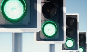 Green has been used for traffic lights since 1868, when gas-powered lights were erected in front of the Houses of Parliament in London.