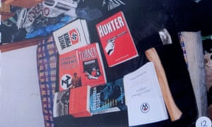 Nazi literature found during a police search of Davies's home