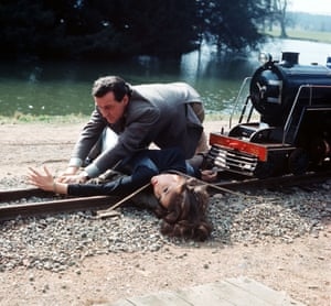 Diana Rigg and Patrick Macnee pictured in a scene from The Avengers.