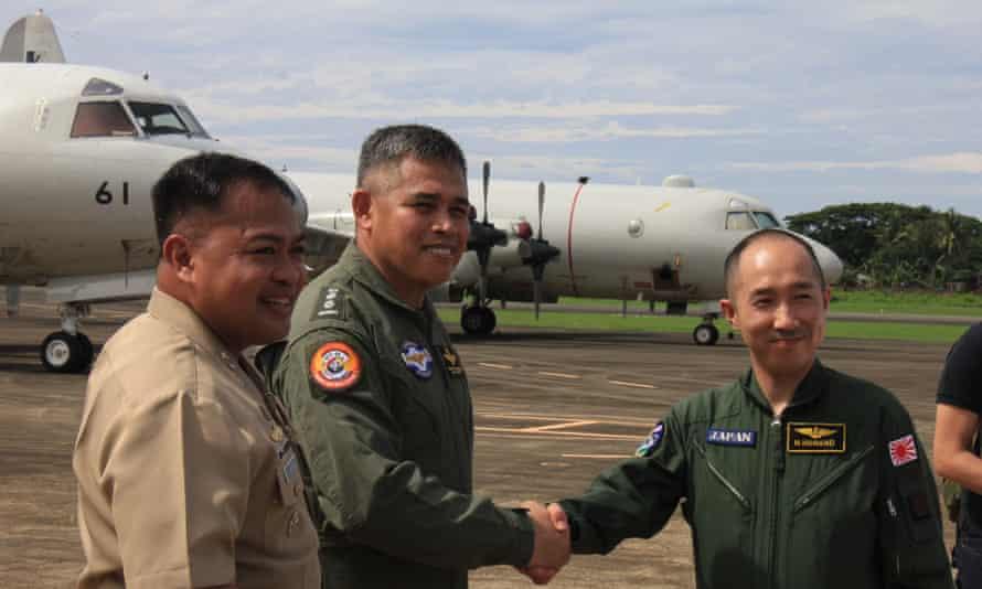 Japanese Philippine joint training activity Antonio Bautista Airbase.