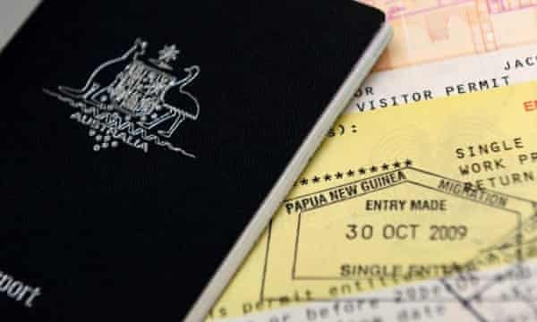 A photo of an Australian passport.
