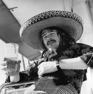 Sunderland's Bobby Kerr enjoys a cold one while on an end-of-season holiday in Majorca in 1973