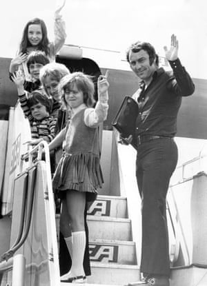 After quitting league football in 1971, Jimmy Greaves heads off to Portugal for a holiday with his wife, Irene, and children Lynn, Mitzi, Danny and Andrew