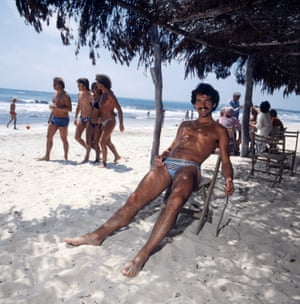 Liverpool's Graeme Souness relaxes on holiday in Majorca in 1978