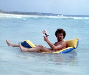 Souness takes to the water for some peace and quiet in order to read his book – The Viking Process by Norman Hartley