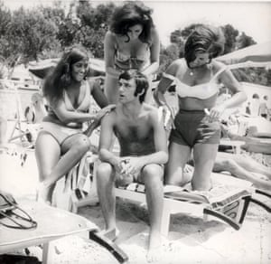Manchester United's George Best attracts admirers on holiday in Majorca in 1968