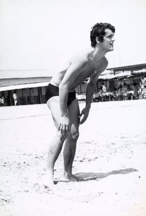 Fabio Capello, then playing for Juventus, at a seaside resort in Italy in 1975