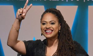 Ava DuVernay accepts a prize at Women In Film 2015 Crystal + Lucy Awards, June 2015