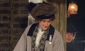 Meryl Streep playing Emmeline Pankhurst in Suffragette.