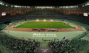 Athletics at Baku's European Games