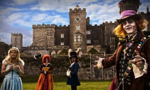 In the school holidays, a theatre group puts on interactive performances in the grounds of Powderham Castle