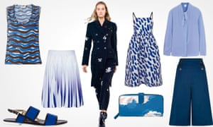 Blue fashion for summer