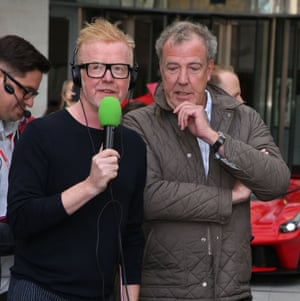 New host Chris Evans with outgoing presenter Jeremy Clarkson.