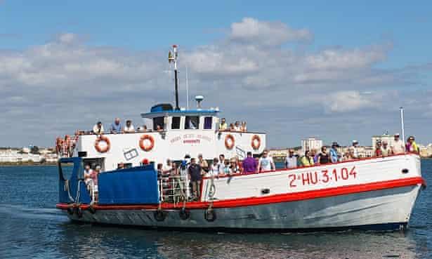 The ferry from to Vila Real de Santo Antonio, Portugal.