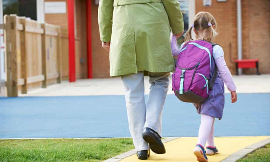 Parent Taking Child To Pre School
