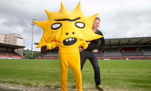 Angry Aztec sun god or Lisa Simpson lookalike? … The new Partick Thistle mascot with creator David S