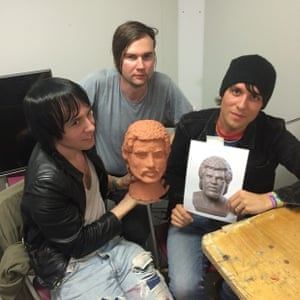 The Cribs are proud of the art they make #GuardianGlasto