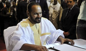 Sidi Brahim Ould Sidati of the Coordination of Movements for Azawad signs a peace agreement