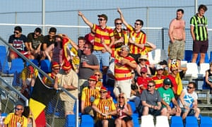 Nice people, after all … Partick Thistle's loyal fans.
