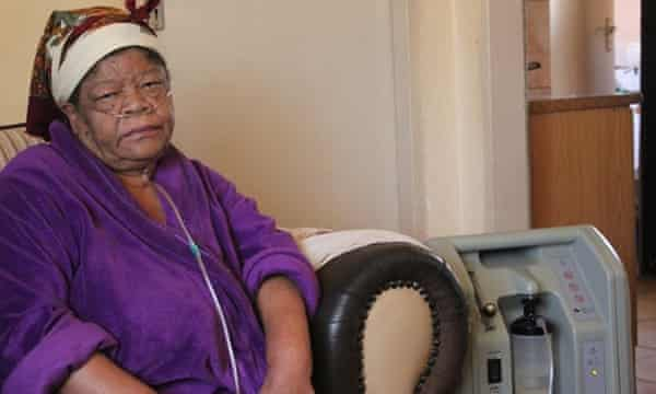 Rasalind Plaatjies, 62, suffers severe respiratory problems. 'Sometimes I don't have the energy to get up.'