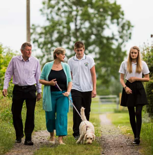 Debbie Bird says her children are 'fairly typical teenagers who would prefer to be on their phones or watching YouTube on their iPads than walking with me and the dog'.