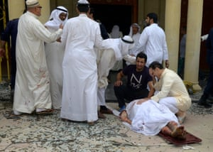 The aftermath of Friday's blast at the Imam Sadiq mosque in Kuwait City