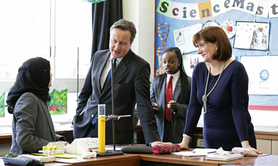 David Cameron and Nicky Morgan visit Kingsmead school