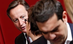 David Cameron (L) and the Greek prime minister Alexis Tsipras at the EU summit this week.
