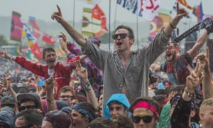 An enthusiastic Other stage crowd braves the rain for Catfish and the Bottlemen on Friday afternoon.