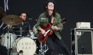 James Bay rocks out on the main stage.