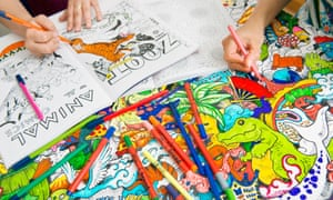 Staff At Michael OMara With Adult Colouring Books