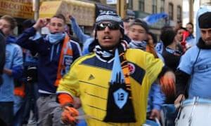NYCFC drum crew