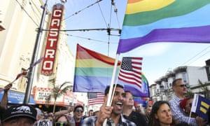 People celebrate San Francisco