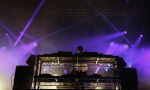 Jamie xx at Glastonbury park stage.