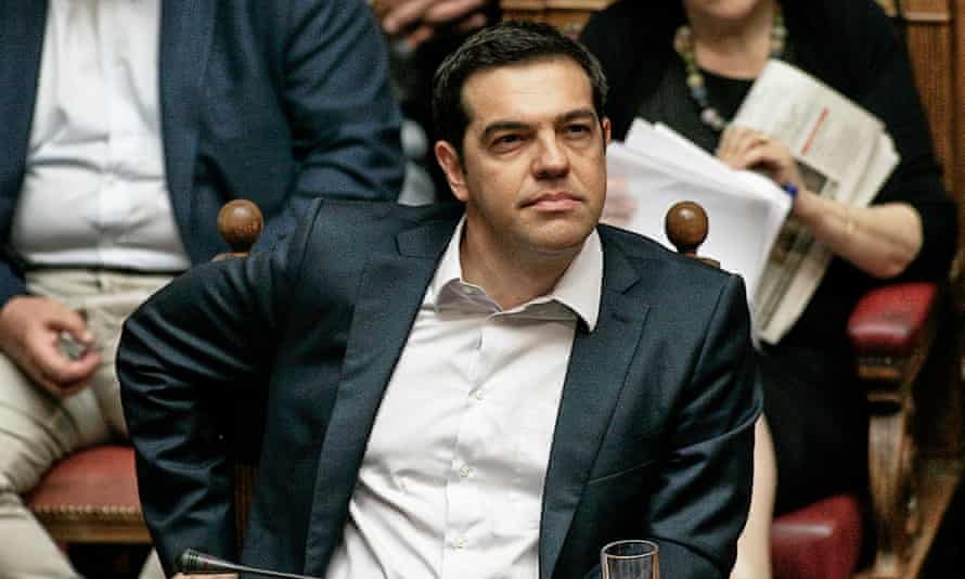 ATHENS, GREECE - JUNE 27:  Greece's Prime Minister Alexis Tsipras attends an emergency Parliament session for the government's proposed referendum June 27, 2015 in Athens, Greece. Greece's fraught bailout talks with its creditors took a dramatic