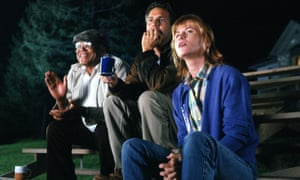 James Earl Jones, Kevin Costner and Amy Madigan in the 1989 film Field of Dreams.