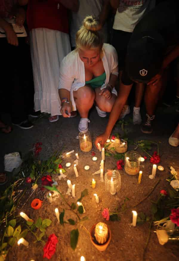 A candlelit vigil in Sousse on Saturday night.