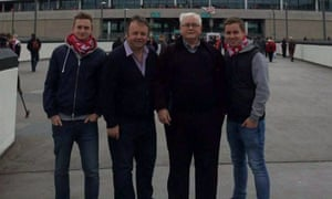 Left to right: Owen Richards, Adrian Evans, Patrick Evans and Joel Richards