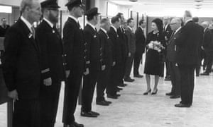 The Queen meets airline staff at opening of Terminal 1 in 1969