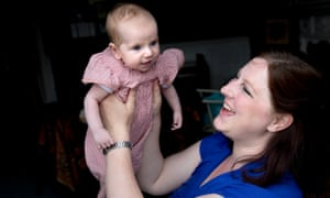 Michaela Lawrence, pictured with her daughter Poppy, is campaigning against cuts to community breastfeeding midwives.