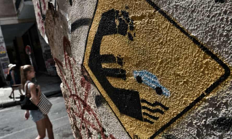 Graffiti in Athens, Greece.