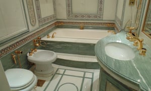 The auctioneer suggests that the sumptuous Baldi bathrooms, in which a bathtub alone would have cost tens of thousands of pounds, could auction in their entirety for just a few hundred pounds.