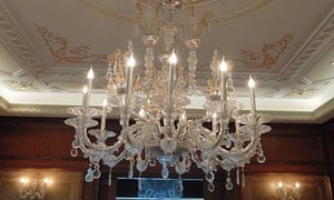 A Murano chandelier by Barovier & Toso is up for auction.