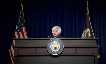 Federal Reserve chair Janet Yellen, June 2015.