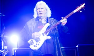 Chris Squire playing live in concert with Yes, Pennsylvania, 2013.