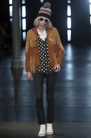 Skinny jeans on the Saint Laurent catwalk