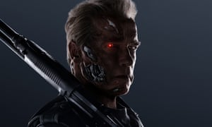 Back ... again. Arnold Schwarzenegger as the T-800 in Terminator Genisys